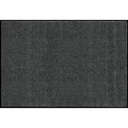 Rib Commercial Carpeted Indoor and Outdoor Floor Mat, Pepper