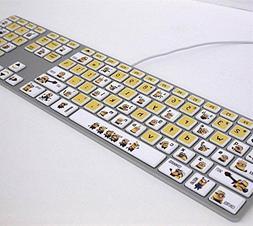 RoomMates RMK2981FLT Minions Keyboard Peel and Stick Sticker