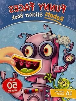 Robot Funny Faces ~ Sticker & Coloring Book