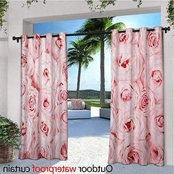 Rose Outdoor- Free Standing Outdoor Privacy Curtain Sweet Fr