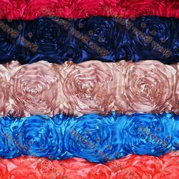 """ROSETTE SATIN FABRIC 3-DIMENSIONAL 52""""/54""""WIDE BY THE YARD H"""