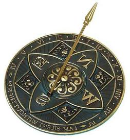 Rosette Sundial - From with Brass Construction