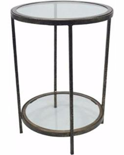 THRESHOLD round one shelf accent/end 1 shelf table - Metal /