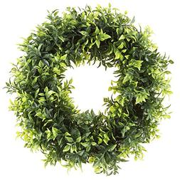 Pure Garden Round Wreath, Artificial Wreath for the Front Do