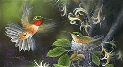 Toland Home Garden Rufous Hummingbird 20 x 38 Inch Decorativ