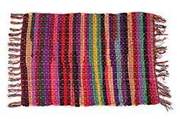 Rugs Area MystiqueDecors Multi Chindi Rag Rug Multicolor Cot