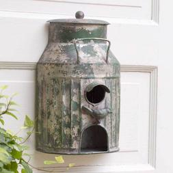 Rustic Farmhouse Country Style Wall Mounted Milk Can Birdhou