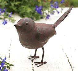 Rustic Metal Songbird Outdoor Home Garden Decor Statue Yard