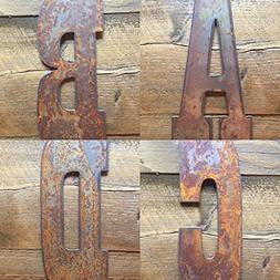 "6"" RUSTY, Rustic, Rusted Metal Letters and Numbers - PREDRIL"