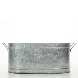 """Hosley's 18"""" Long Galvanized Oval Beverage Party Tub, Chille"""