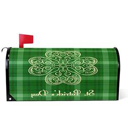 Saint Patrick's Day Shamrock Magnetic Mailbox Cover MailWrap