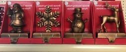 SALE! Set Of 4 Santas Forest Bronze Stocking Holder 4 Design