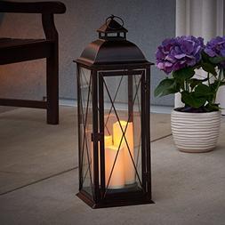 Smart Design  Salerno 27-Inch Triple LED Candle Lantern, Bat