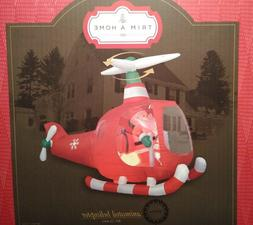 Santa Animated Red Copter Gemmy Christmas Airblown Inflatabl