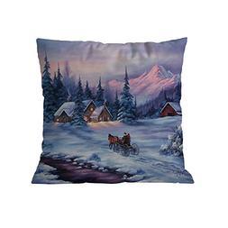 Pausseo Santa Claus Pillowcase, Merry Christmas Xmas Cotton