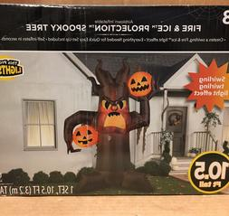 Gemmy SCARY PUMPKIN SPOOKY TREE Halloween Airblown Inflatabl