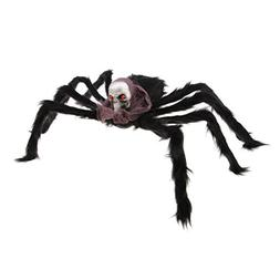 D DOLITY Scary Skull Head Spider Halloween Haunted House Bar