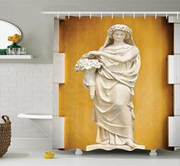 Ambesonne Sculptures Decor Collection, Statue of Greece and