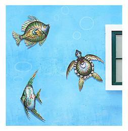 Sunjoy Sea Life Outdoor Wall Decor Set