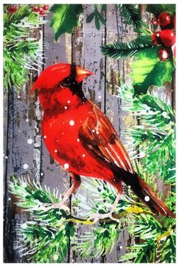 "Seasonal Birds Decorative Garden Flag 12""X18""  Cute Yard Orn"