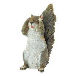 See No Evil Squirrel Statue - Yard Garden Decor