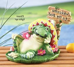 Senor Frog Garden Statue by Collections Etc