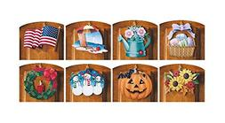 10 Piece Set Multi Holiday Interchangeable Seasonal Welcome