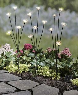 Set of 3 Solar Flower Branches Lights Garden Yard Lawn Sprin
