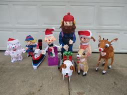 Set of 8 Island Of Misfit Toys 3D Tinsel Outdoor Lighted Yar