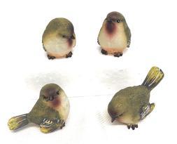 Set of Bird figurines , Mini Resin Wood Warbler Bird Figurin