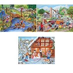 Bits and Pieces - Set of Three  500 Piece Jigsaw Puzzles for