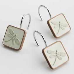 Home Classics Shalimar 12-pk. Dragonfly Shower Curtain Hooks