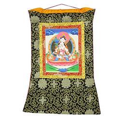 ShalinindiaOriental Decor - Hanging Silk Canvas Scroll Art -