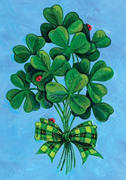 Toland Home Garden Shamrock Bouquet 12.5 x 18-Inch Decorativ