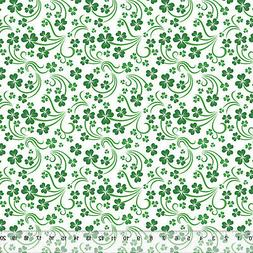 """Shamrock Scroll White - Home Decor Fabric Polyester 62"""" W So"""