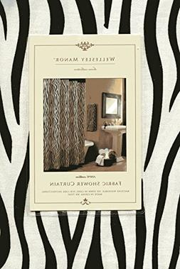 "Wellesley Manor Shower Curtain 72"" X 72"" - Black & Ivory"