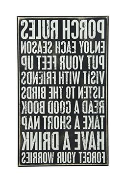 Primitives by Kathy Box Sign, 16.5-Inch by 10-Inch, Porch Ru