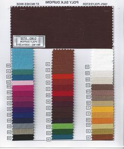 Silk Dupioni Shantung Fabric 100% Polyester for Apparel Home