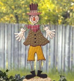 Silly Scarecrow Garden Stake - Halloween Yard Decoration