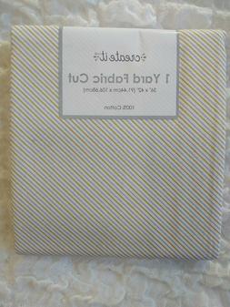 "Silver Gold White Stripe 1 Yard Fabric Quilt Craft Decor 36"""