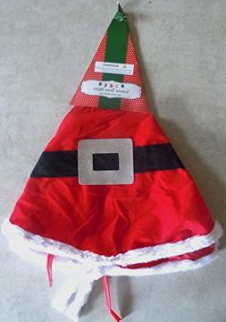 """Silver Santa Belt Velvet Tree Skirt 26.5"""""""