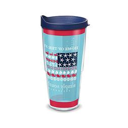 Tervis Simply Southern Flag Wrap Clear Inner Tumbler with Na