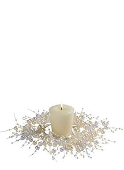 """Sullivans 2.25"""" Simulated Pearl Beaded Candle Ring"""