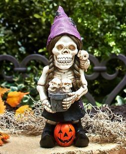 Skeleton Garden Gnome Halloween Yard Lawn Art Outdoor Home D