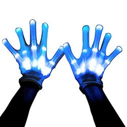 Led Skeleton Gloves, 12 Color Changeable Light Up Shows Hall