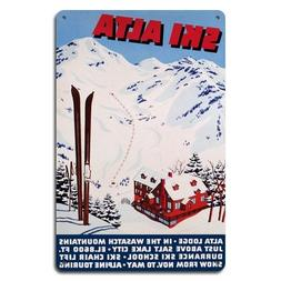 Ski Alta Metal Sign, Utah Ski Sign, Wasatch Mountain Sign, S