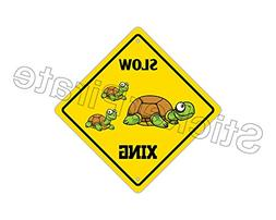 Slow Turtle Crossing Funny Metal Novelty Sign Aluminum
