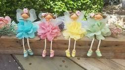 Small Resin Ballerina Fairy Figurines Shelf Sitters Home Dec