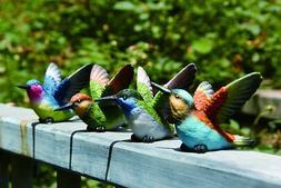 Small Resin Hummingbird Figurines Set of 4