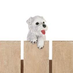 Small White Terrier Puppy Dog Hanging Statue - Yard Garden D